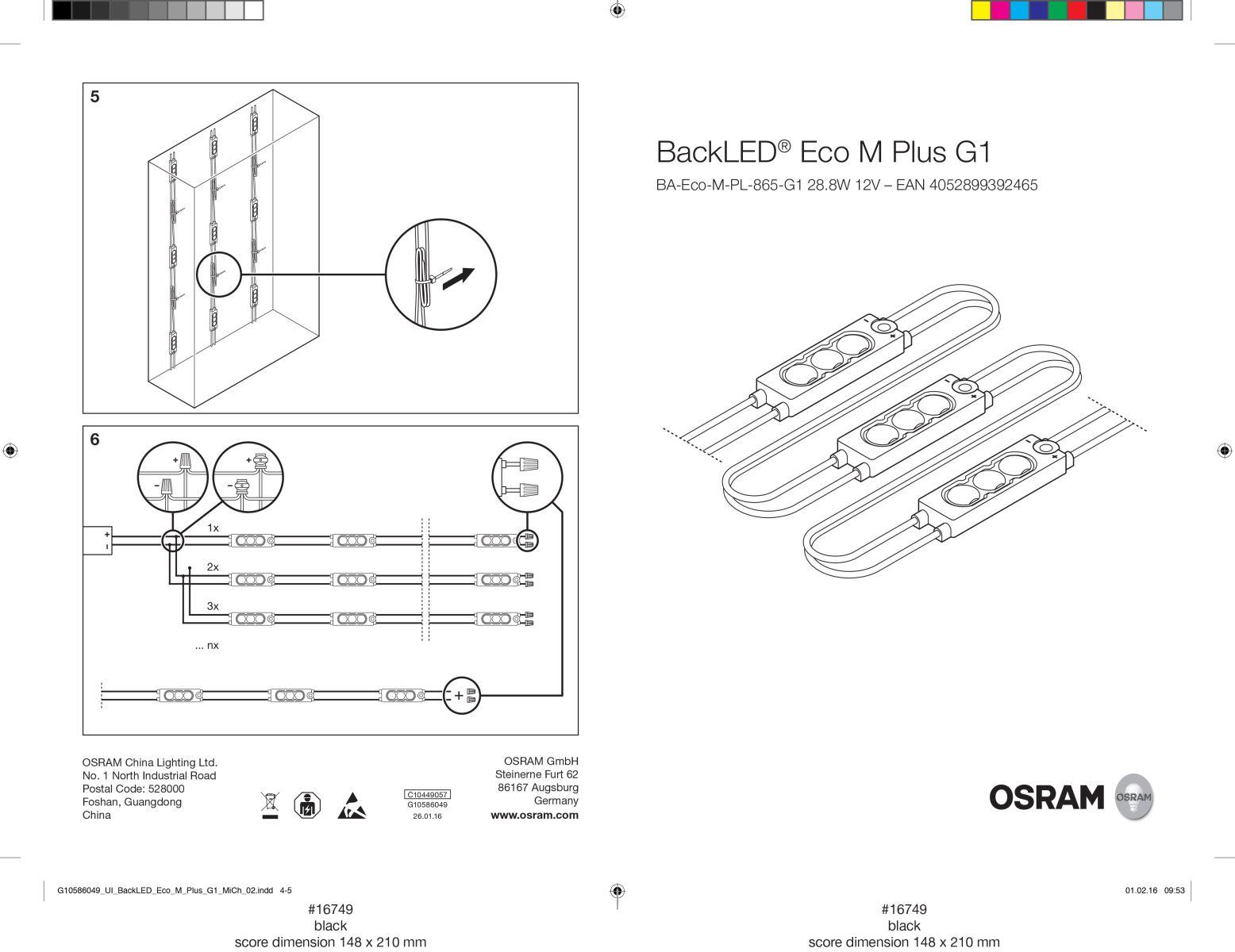 Hướng dẩn lắp đặt BackLED® Eco M Plus G1